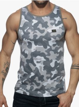 Addicted Washed Camo Tank top