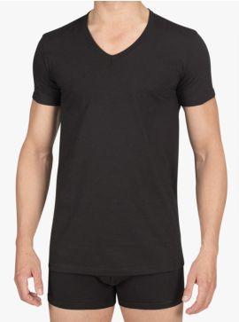Alan Red T-shirt Dean Slim Fit Deep V-Neck